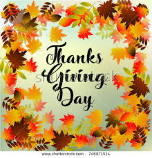 thanksgiving greeting card happy thanksgiving day stock vector