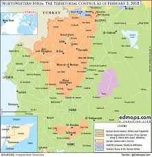 map of syria syrian civil war in maps