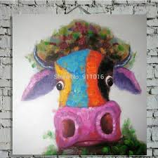 hand painted impression modern elephant wall art picture on canvas