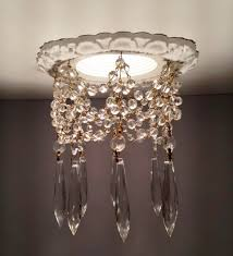 Crystal Pointed Accessory Decorative Recessed Light Covers Chain