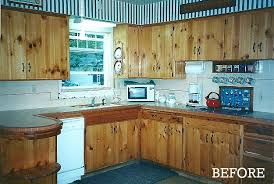 Knotty Pine Cabinets Kitchen Candice U0027s Kitchen Before Knotty Pine Cabs Hooked On Houses