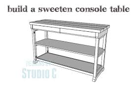 a fabulous console table you can easily build u2026 u2013 designs by studio c