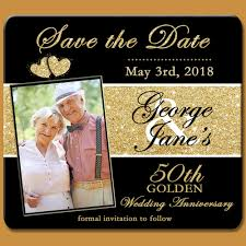 50th golden anniversary save the date magnet golden anniversary