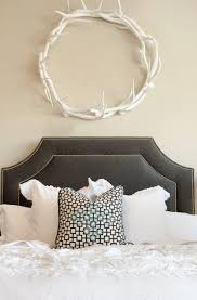 gray velvet headboard contemporary bedroom ashlee raubach