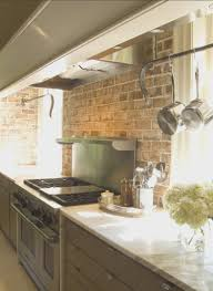 ideas for kitchen decorating kitchen backsplashes fresh exposed brick backsplash kitchen