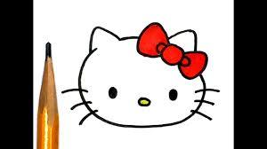 draw kitty super easy step step