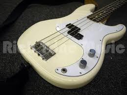 fender precision bass arctic white rich tone music