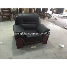 High End Leather Sofas China High End Office Furniture Genuine Leather Sofa Chair Set On