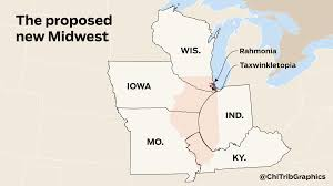 Map Of Us Without Names What To Do With A Broken Illinois Dissolve The Land Of Lincoln