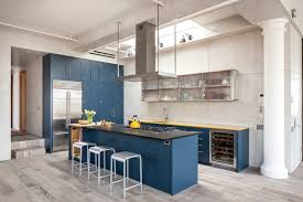Light Blue Cabinets Kitchen Design Idea Deep Blue Kitchens Contemporist