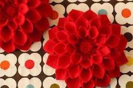 felt flowers not martha to make diy s day corsage felt dahlia flower