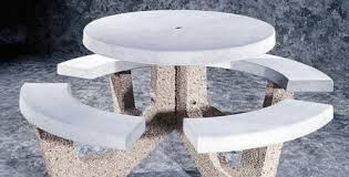 round cement picnic tables concrete picnic tables image collections table decoration ideas