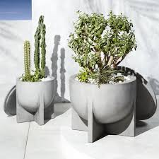 modern planters and garden pots cb2