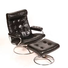 reclining stressless lounge chair and ottoman by ekornes at 1stdibs