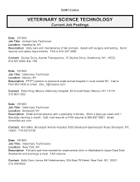 Veterinarian Resume Sample by Resume Vet Tech Resume Samples