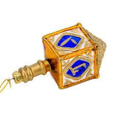 glass dreidel dreidel glass ornament product sku s 160195
