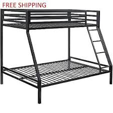 Twin Over Full Metal Bunk Bed Ladder Kids Bedroom Furniture Set - Metal bunk bed ladder