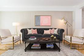 pink grey living living room transitional with pink pillows gold