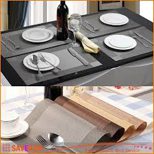 dining table cover pad best placemat fashion pvc dining table mat pads bowl pad coasters