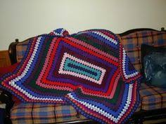 free pattern granny square afghan crochet granny blues lapghan one large granny square is a perfect