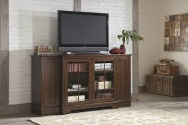 tv stand glass door varnished dark walnut wood tall tv stand for bedroom with double