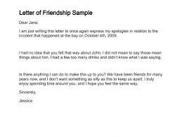 letter of friendship