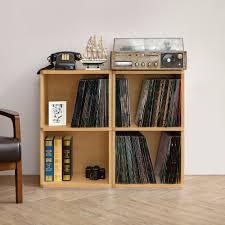 Vinyl Record Bookcase Vinyl Record Storage 2 Cube In Natural Way Basics