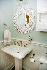 Beachy Bathroom Mirrors by Wall Mounted Soap Dispenser Powder Room Beach With Bathroom