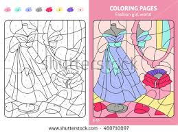 fashion coloring kids stock vector 460710097
