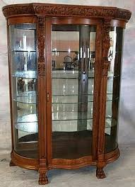 curved glass china cabinet oak curio cabinets with curved glass glass china cabinet interesting