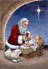 santa and baby jesus picture christmas decorations forget santa and angel