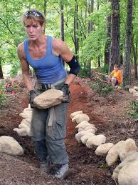 How To Create A Rock Garden by A Weekend Project How To Create A Dry Creek Bed In A Weekend