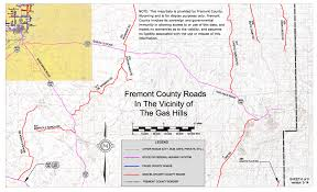 Wyoming Road Map Fremont County Government Publications And Maps