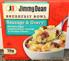 jimmy dean sausage u0026 gravy breakfast bowl review youtube