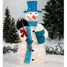 Outdoor Lighted Christmas Decorations by Tinsel Snowman Outdoor Sculpture Snowmen Pinterest Snowman