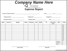 Company Expense Report Template by Professional Expense Report Template Sle Helloalive