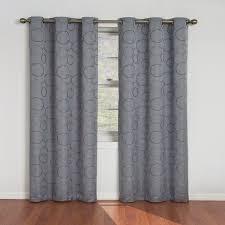 dark grey curtains linen curtains aurora home silver grommet top