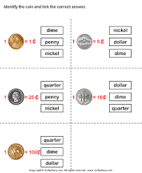 coin identification worksheet identify coins worksheet turtle diary