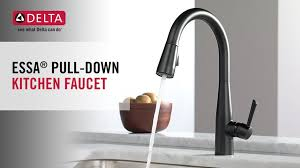delta kitchen faucets delta essa single handle pull sprayer kitchen faucet with