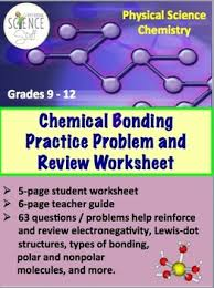 chemical bonding practice problem and review worksheet by amy