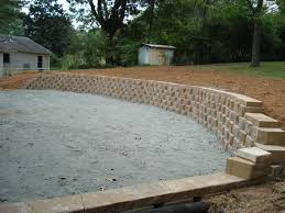 Retaining Wall Patio Concrete Retaining Walls Atlanta Area Custom Retaining Walls
