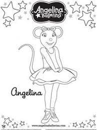 angelina ballerina printable coloring pages christmas decor
