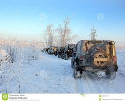 jeep wrangler in the winter jeep wrangler in the winter forest russia editorial stock image