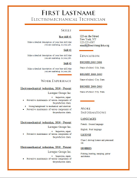 Best Fonts Resume by Free Cv Templates 275 To 281 U2013 Freecvtemplate Org