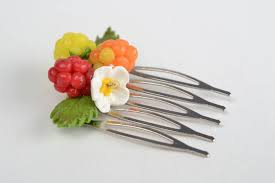 decorative hair pins madeheart handmade small decorative hair comb with polymer clay