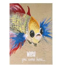 wishing paper wishing fish flying wish paper kit greetings card pink cat shop