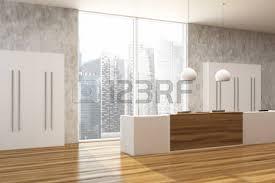 bureau reception bureau de réception en bois sombre dans un bureau moderne avec des