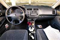 2001 honda civic ex interior civic vs sentra vs corolla commuter car comparison motor trend