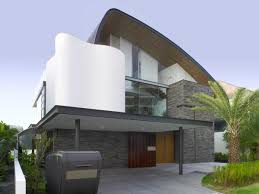 waterfront home designs this waterfront home in singapore is enclosed by a curvaceous roof