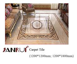 six in one polished carpet tile ceramic tile for house